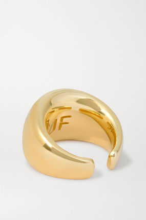 JENNIFER FISHER 指輪・リング プレゼント◆New Cylinder gold-plated ring(4)