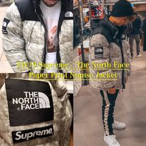 Supreme The North Face Paper Print Nuptse Jacket - ヌプシ
