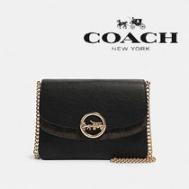 【COACH】JADE FLAP CROSSBODY レザー×ゴールド F80836