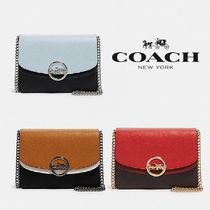 【COACH】JADE FLAP CROSSBODY レザー×ゴールドモチーフ F80834