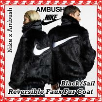Nike x Ambush Reversible Faux Fur Coat Jacket BLACK 2018 AW