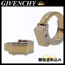 GIVENCHY ENGRAVED LOGO BRASS RING