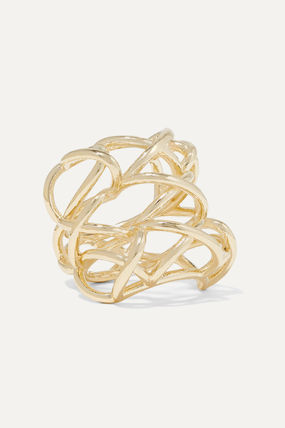 JENNIFER FISHER 指輪・リング プレゼント◆Lace Up gold-plated ring(2)