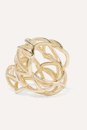 JENNIFER FISHER 指輪・リング プレゼント◆Lace Up gold-plated ring(4)