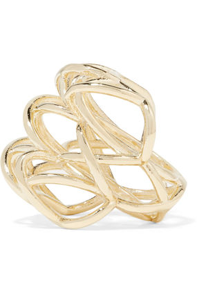 JENNIFER FISHER 指輪・リング プレゼント◆Lace Up gold-plated ring(6)