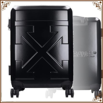 Off-White スーツケース 関税込み◆Off-White Arrow Trolley  In Black Pvc