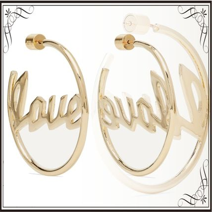 JENNIFER FISHER イヤリング プレゼント◆Love gold-plated hoop earrings