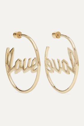 JENNIFER FISHER イヤリング プレゼント◆Love gold-plated hoop earrings(2)