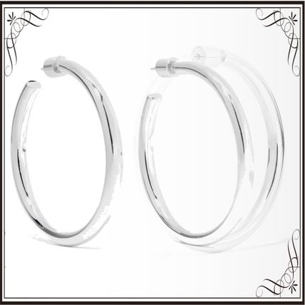JENNIFER FISHER イヤリング プレゼント◆Baby Lilly silver-plated hoop earrings