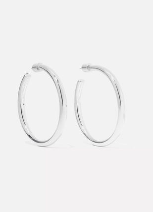 JENNIFER FISHER イヤリング プレゼント◆Baby Lilly silver-plated hoop earrings(2)