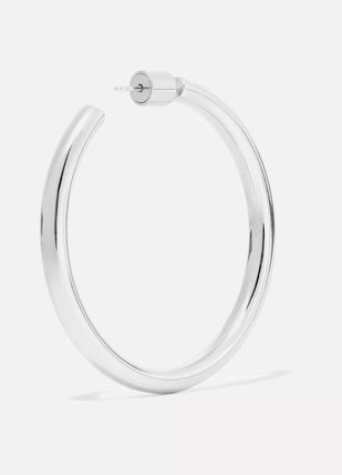 JENNIFER FISHER イヤリング プレゼント◆Baby Lilly silver-plated hoop earrings(5)