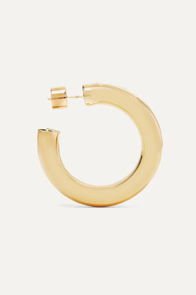 JENNIFER FISHER イヤリング プレゼント◆Mini Kevin gold-plated hoop earrings(3)
