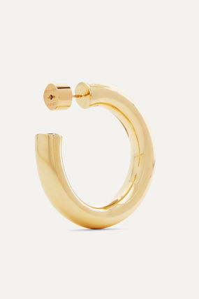 JENNIFER FISHER イヤリング プレゼント◆Mini Kevin gold-plated hoop earrings(5)