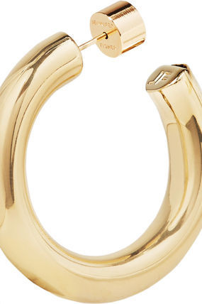JENNIFER FISHER イヤリング プレゼント◆Mini Kevin gold-plated hoop earrings(6)