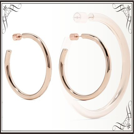 JENNIFER FISHER イヤリング プレゼント◆Baby Lilly rose gold-plated hoop earrings