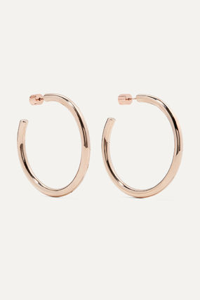 JENNIFER FISHER イヤリング プレゼント◆Baby Lilly rose gold-plated hoop earrings(2)