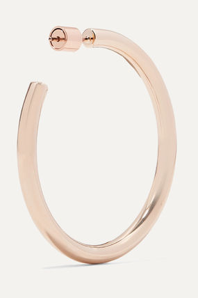 JENNIFER FISHER イヤリング プレゼント◆Baby Lilly rose gold-plated hoop earrings(5)