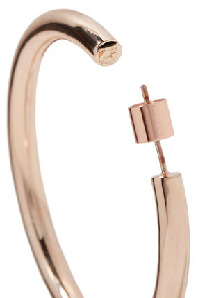 JENNIFER FISHER イヤリング プレゼント◆Baby Lilly rose gold-plated hoop earrings(6)