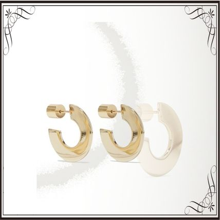 JENNIFER FISHER イヤリング プレゼント◆Drew Huggies gold-plated hoop earrings
