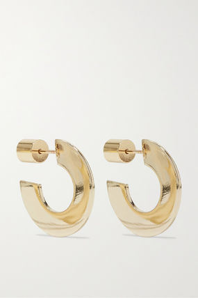 JENNIFER FISHER イヤリング プレゼント◆Drew Huggies gold-plated hoop earrings(2)