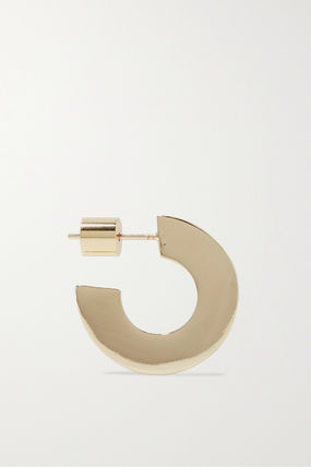 JENNIFER FISHER イヤリング プレゼント◆Drew Huggies gold-plated hoop earrings(3)
