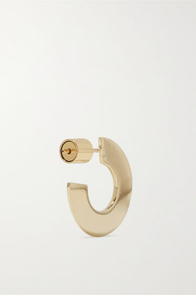 JENNIFER FISHER イヤリング プレゼント◆Drew Huggies gold-plated hoop earrings(5)