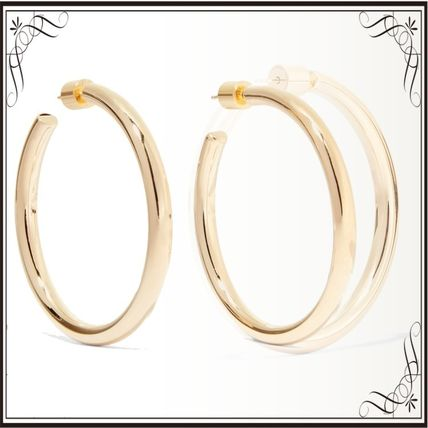 JENNIFER FISHER イヤリング プレゼント◆Baby Lilly gold-plated hoop earrings