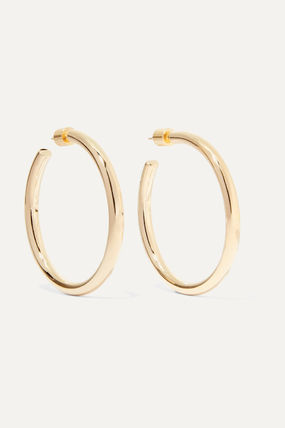 JENNIFER FISHER イヤリング プレゼント◆Baby Lilly gold-plated hoop earrings(2)