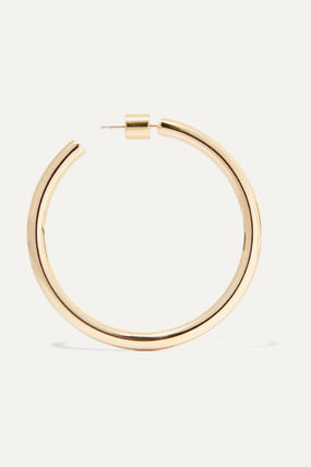 JENNIFER FISHER イヤリング プレゼント◆Baby Lilly gold-plated hoop earrings(3)