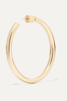 JENNIFER FISHER イヤリング プレゼント◆Baby Lilly gold-plated hoop earrings(5)