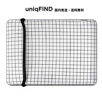 uniqFIND*WHITE GRID MACBOOK スリーブケース