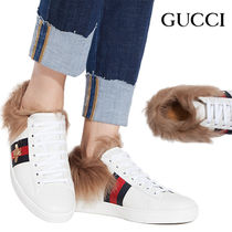 GUCCI 〔エース〕ファー付き スニーカー ACE BEE FUR SNEAKERS