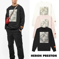 【HERON PRESTON】HERON BIRDS PRINT & DEBOSSED スウェット