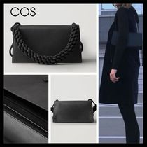 【COS】上品 KNOTTED STRAP LEATHER BAG ブラック レザー