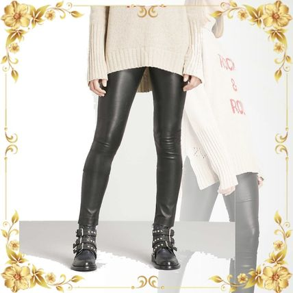 ZADIG & VOLTAIRE ボトムスその他 関税込み◆Pharel Cuir Deluxe mid-rise leather leggings