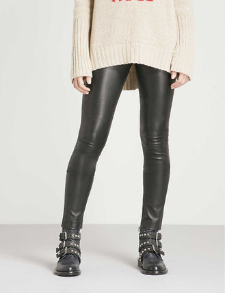 ZADIG & VOLTAIRE ボトムスその他 関税込み◆Pharel Cuir Deluxe mid-rise leather leggings(2)