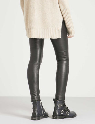 ZADIG & VOLTAIRE ボトムスその他 関税込み◆Pharel Cuir Deluxe mid-rise leather leggings(4)