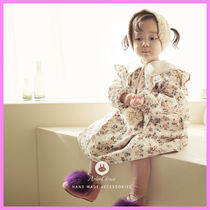 【ArimCloset】lovely big collar flower baby cotton dress
