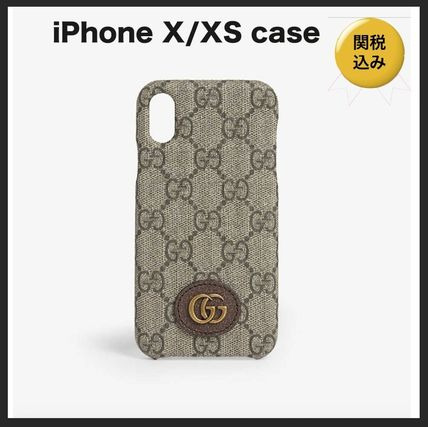 GUCCI スマホケース・テックアクセサリー 国内発送★GUCCI★Ophidia  iPhone X/XS Case