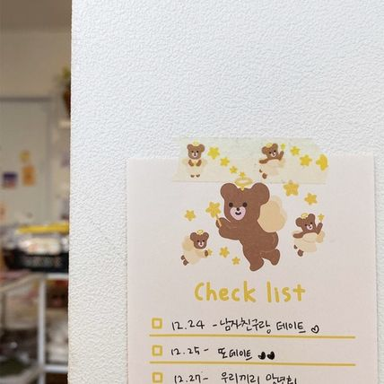 LOVE IS GIVING マスキングテープ 韓国人気★ LOVE IS GIVING ★ masking tape 3types(9)
