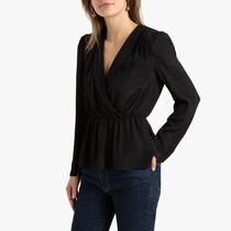 La Redoute Blazer Wrapover Blouse with Long Sleeves