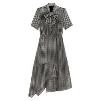 La Redoute Checked Short-Sleeved Dress