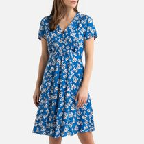 La Redoute Floral Print Short-Sleeved Dress