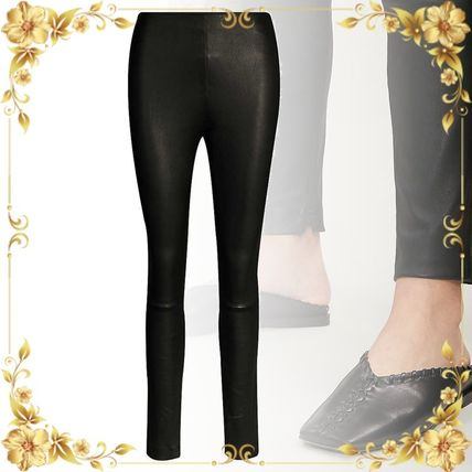 Theory ボトムスその他 関税込み◆High-rise leather leggings