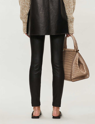 Theory ボトムスその他 関税込み◆High-rise leather leggings(4)