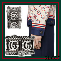[GUCCI]*Silver ring with Double G*ダブルGリング