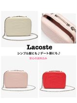 【LACOSTE】大人気 エンボス ロゴ チェーン ポシェット全7色