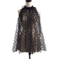N21 numero ventuno::POLKA-DOTTED SHEER TOP:42[RESALE]
