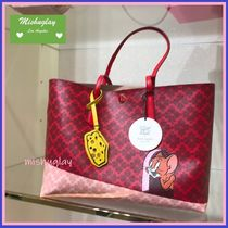 【kate spade×tom & jerry】コラボ★ポーチ付*large tote★A4可