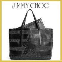 Jimmy Choo★PIMLICO black leather トート【関税込EMS謝恩品】